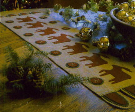 wool wool Christmas table patterns patterns wool applique felt and felt  runner applique